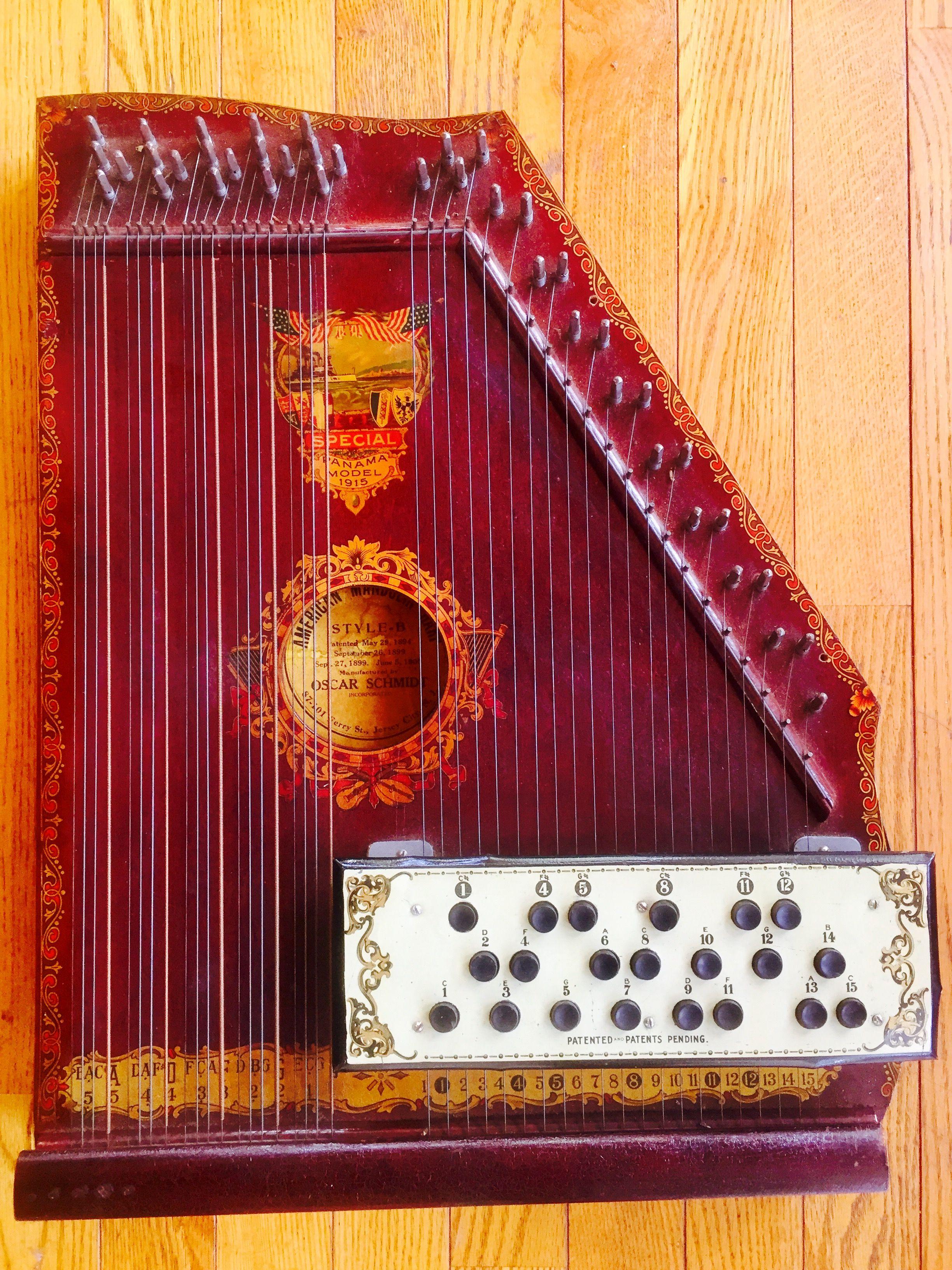 oscar schmidt american mandolin harp c1915 jersey