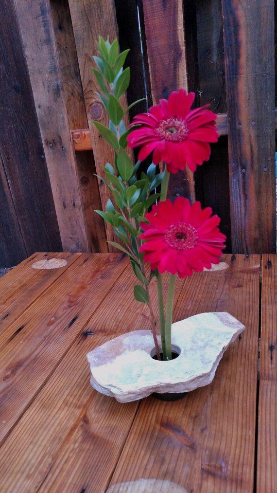 Natural Stone Ikebana Vase By Thegreentart On Etsy Ikebana Vases