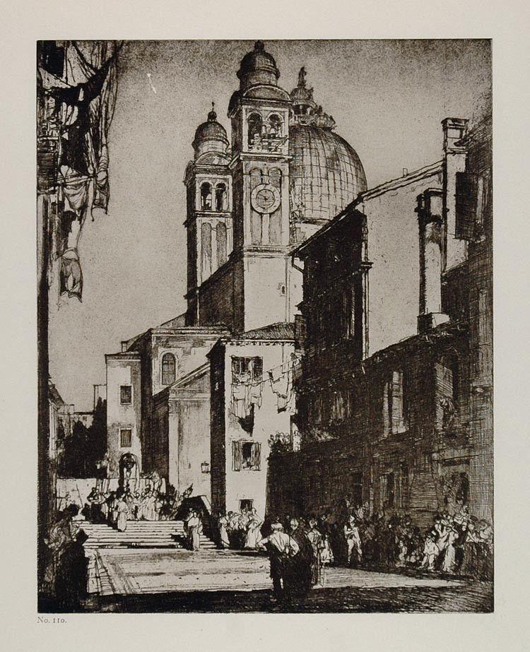 1912 Print Church Santa Maria Venice Frank Brangwyn - ORIGINAL FB1