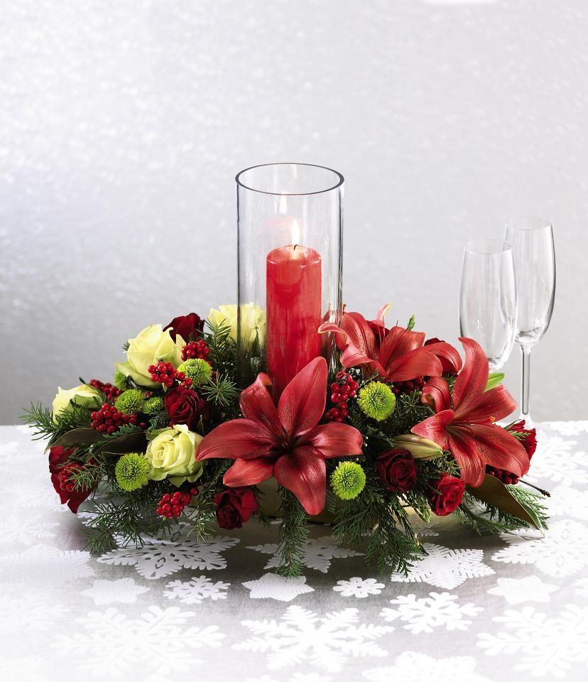 Christmas centerpieces create a stunning homemade