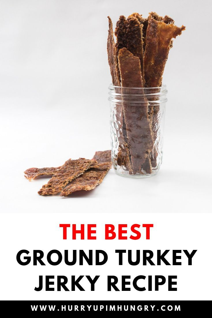 Have you made ground turkey jerky before? It's SO good! Learn how to make turkey jerky in a dehydrator using ground turkey meat with this recipe. #turkeyjerky #dehydrator #dehydratorrecipes #jerky #jerkyrecipes