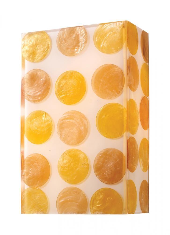 "Modern Organics-2-light Sconce In Capiz Shell : 5ZXZ | 2 - 60 watt cand bulbs; 11"" tall X 7"" wide; was about $150 | (unfortunately, discontinued)"