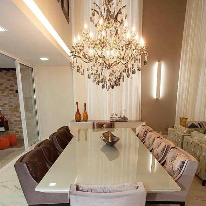 Aquela sala impactante!! Por projectaarquitetura Que tal um lustre ...