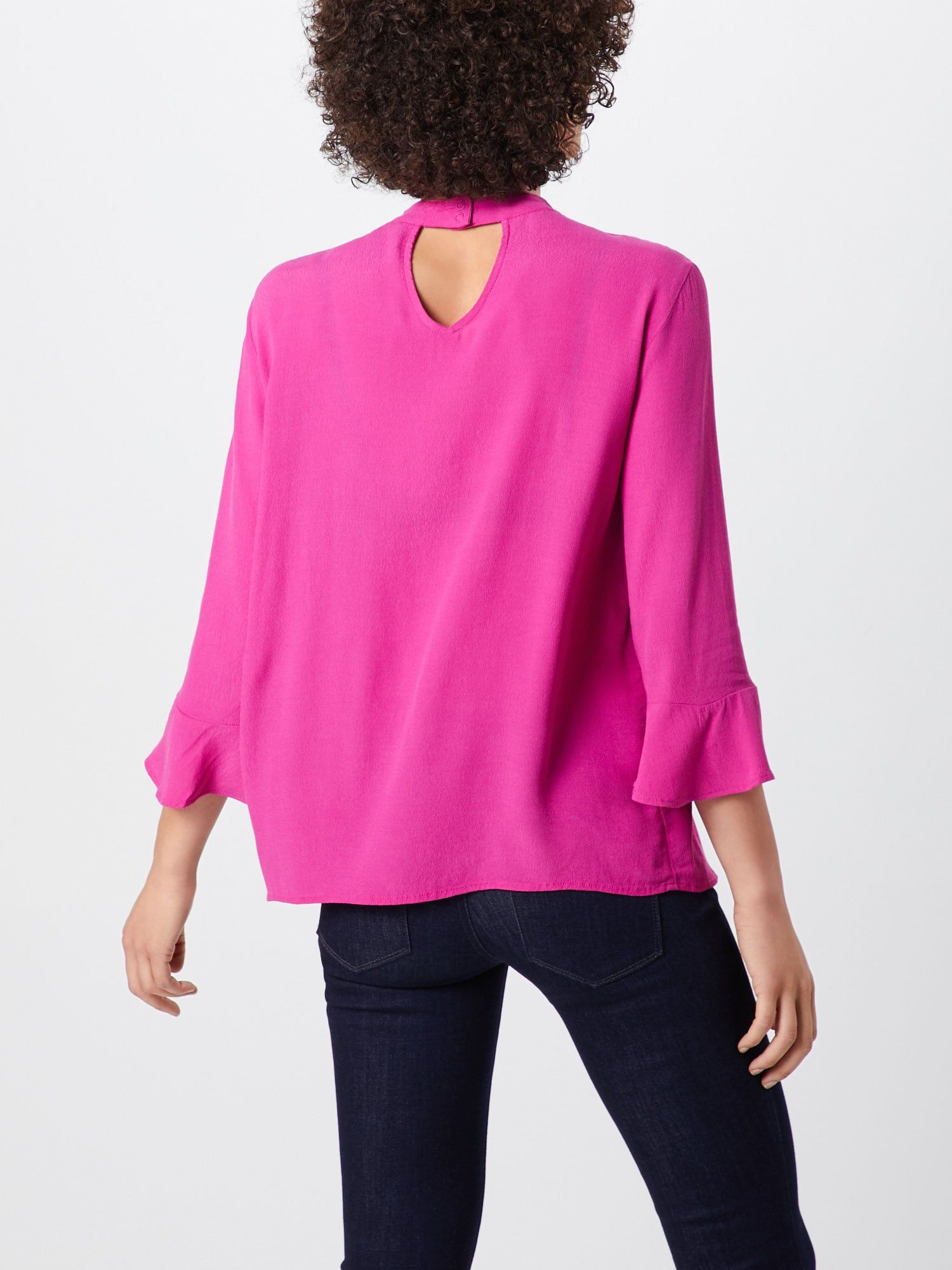 TOM TAILOR DENIM Bluse 'choker neck tunic' Damen, Fuchsia, Größe XS #tunicdesigns