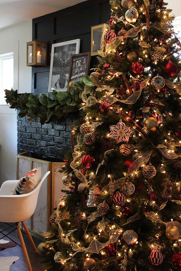Christmas Decorating With A Luxe Lodge Theme Holiday
