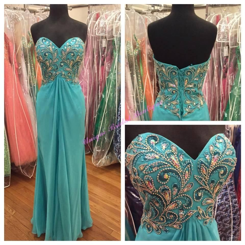 symmetrical beading prom dresses with lace up back and