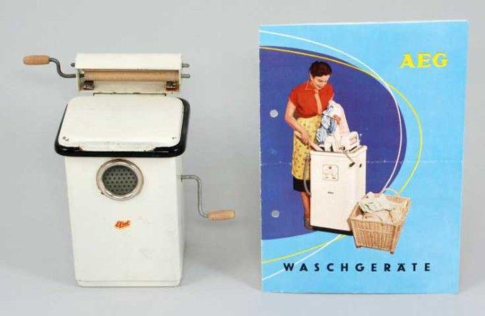 Wirtschaftswunder Puppenstubenzubehor Puppenmobel Spielzeug Waschmaschine