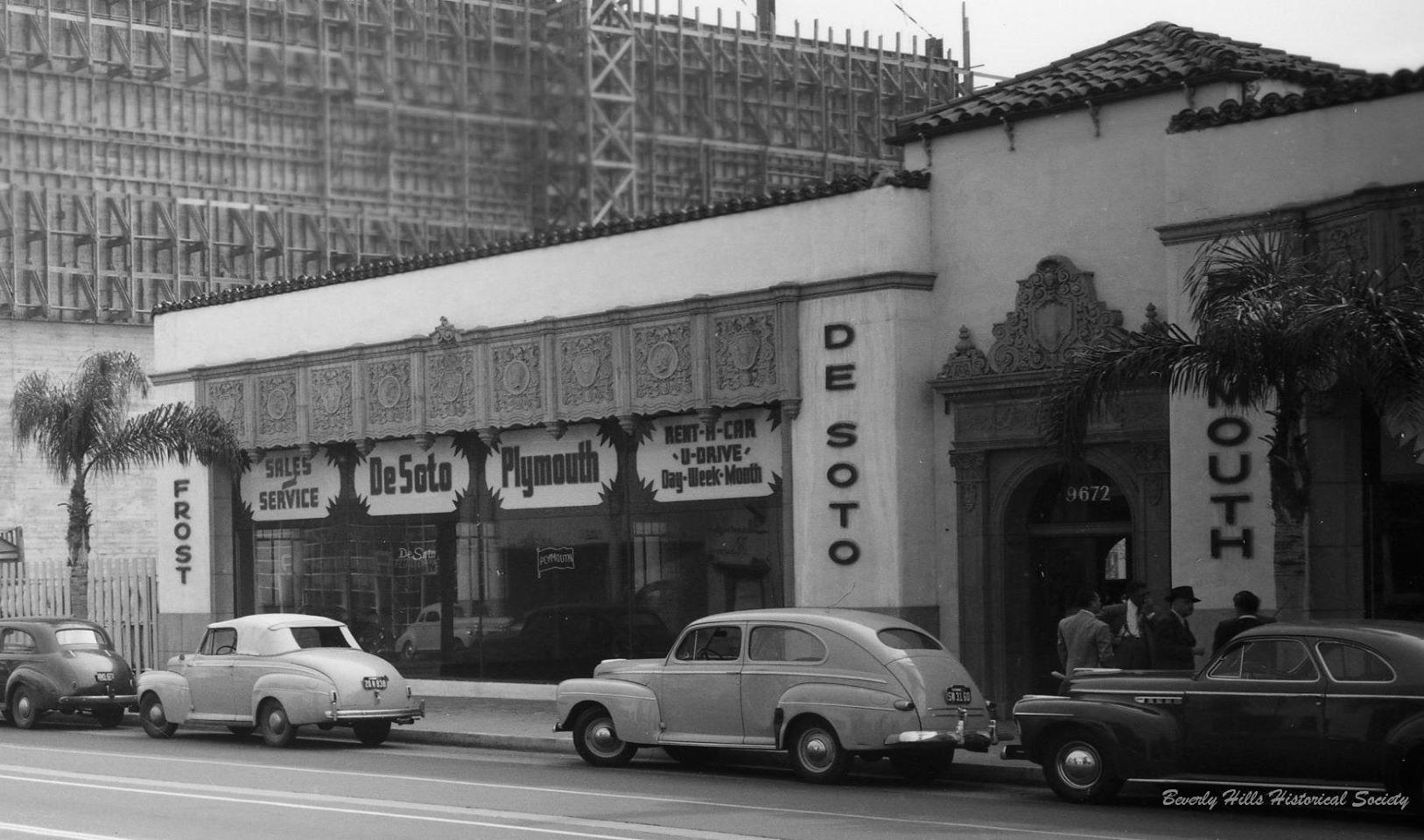 Vintage Street Scene DeSoto Plymouth Dealership | Dealership Stuff ...