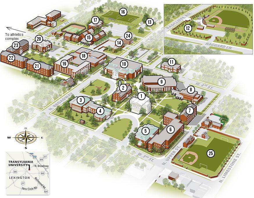 Transylvania University Campus Map.Campus Map Transylvania University Transylvania University