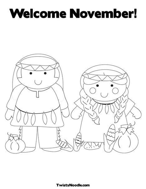 Welcome November Coloring Page Thanksgiving Coloring Pages Welcome November Coloring Pages