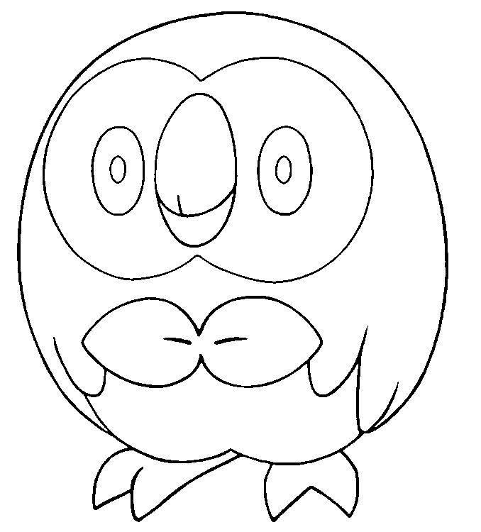 Coloring Pages Pokemon Rowlet Drawings Pokemon Pokemon