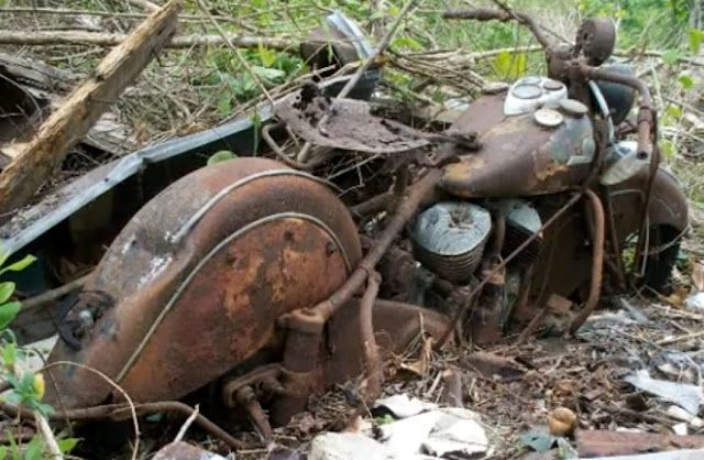 Buried And Left For Dead - Vintage Indian Motorcycle