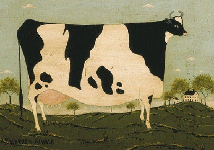 Warren Kimble American Cow Painting Best American Cow Paintings For Sale Cow Painting Cow Art Print Cow Art