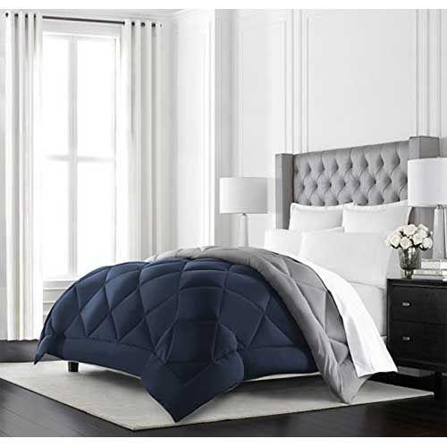4.best Comforters For Hot Sleepers: Beckham Hotel Collection Goose Down  Alternative Reversible Comforter