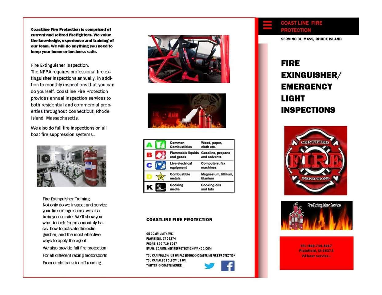Coastline Fire Protection Brochure Fire protection, Fire