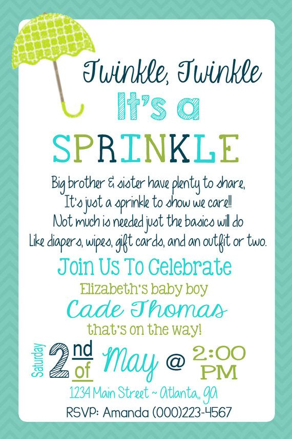 Baby Sprinkle Invitation Le By Sweetsimplysouthern