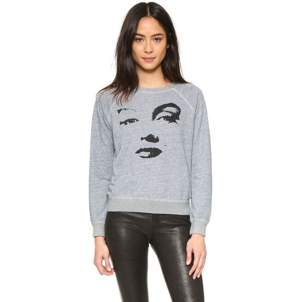 MONROW Marilyn Raglan Sweatshirt ($135) ❤ liked on Polyvore featuring tops, hoodies, sweatshirts, heather grey, raglan sweatshirt, raglan top, long tops, heather grey sweatshirt and raglan sleeve sweatshirt