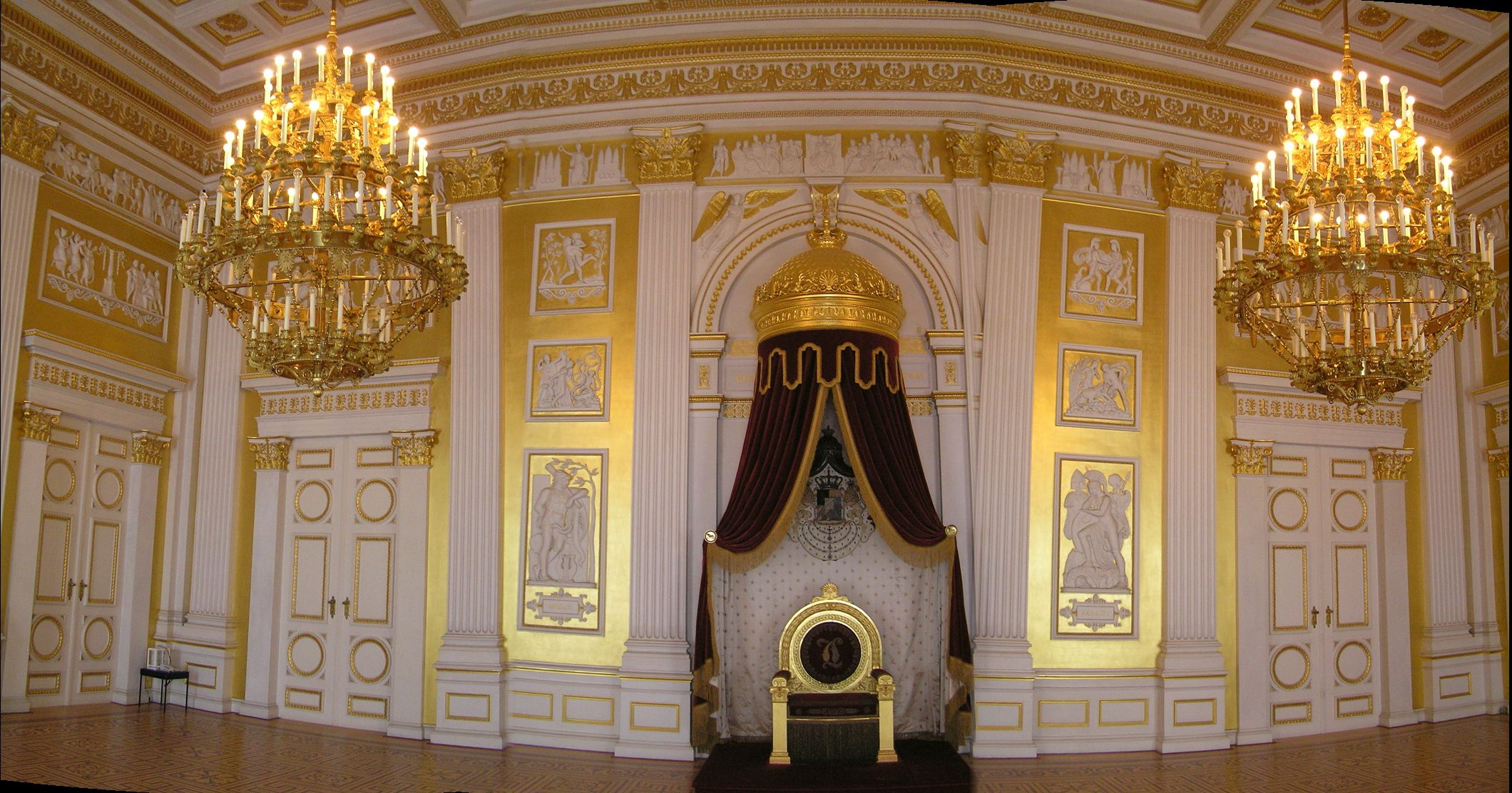 the munich residenz throne room entirely sheathed in gold royal dwellings pinterest. Black Bedroom Furniture Sets. Home Design Ideas