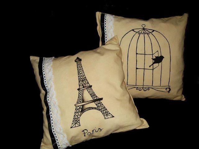 kokoro handmade: cuscino dipinto a mano - painted pillow