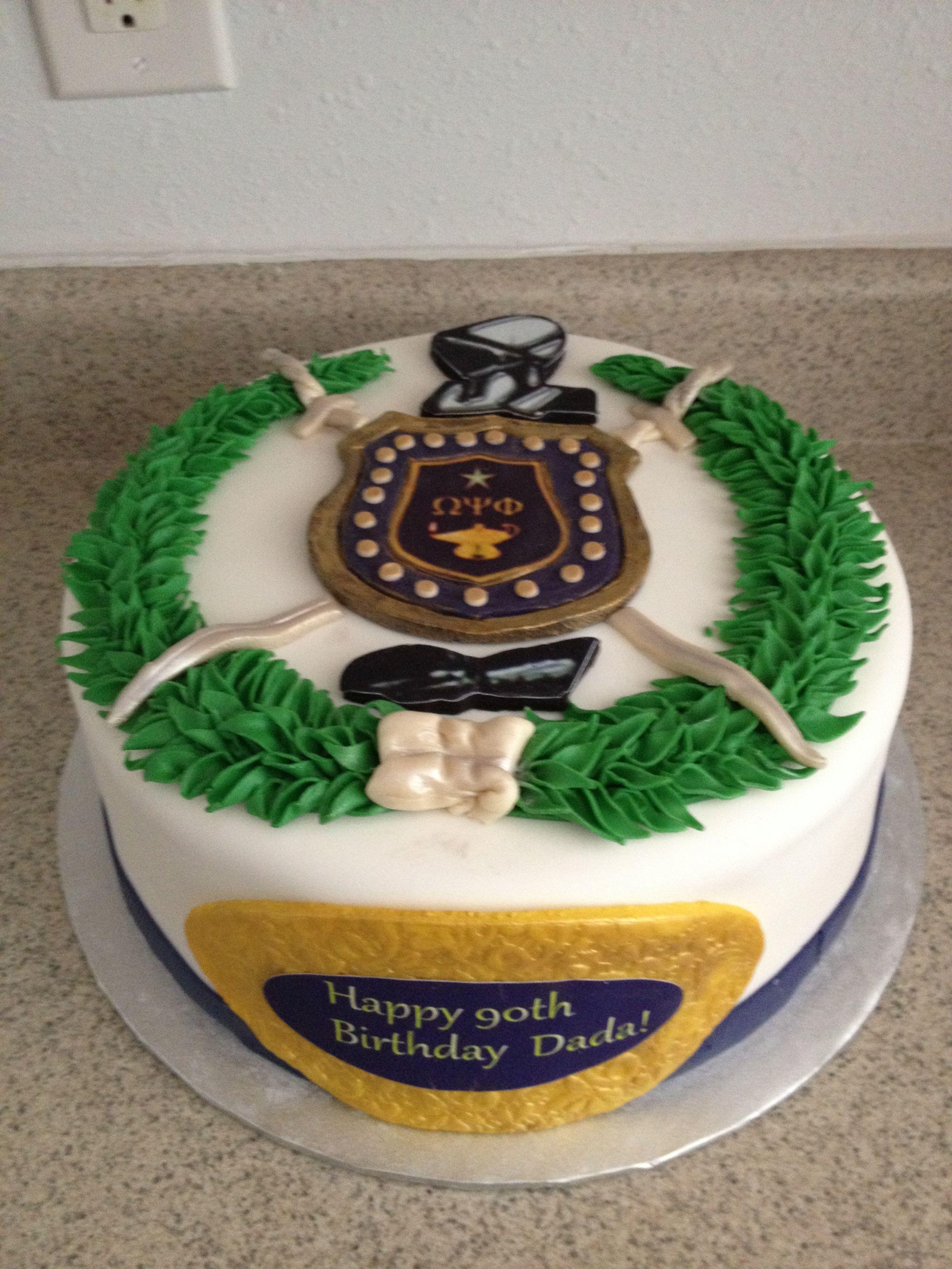 Omega Psi Phi Cake Cakes Pinterest Omega Psi Phi Omega And