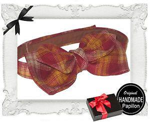 PAPILLON-UOMO-cravattino-cravatta-fiocco-FARFALLINO-marrone-NUOVO-ARTIGIANALE