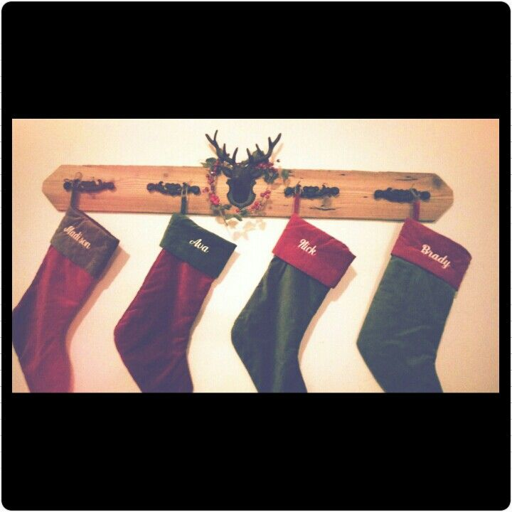 Pretty proud of my little stocking holder I made today!