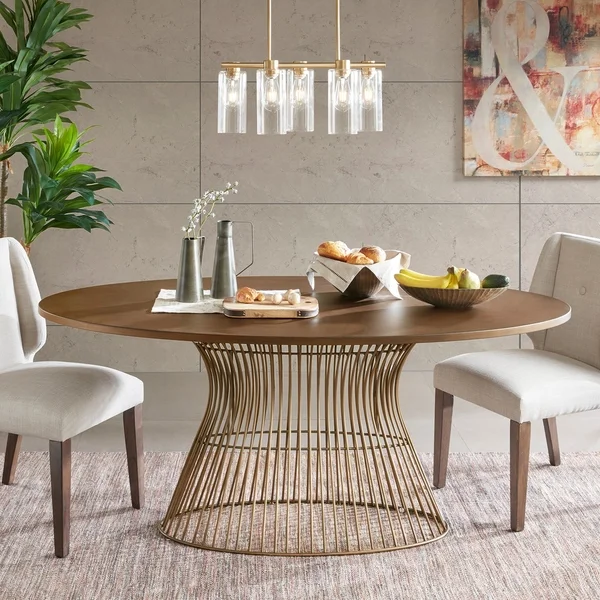 Ink Ivy Mercer Bronze Oval Dining Table Oval Table Dining