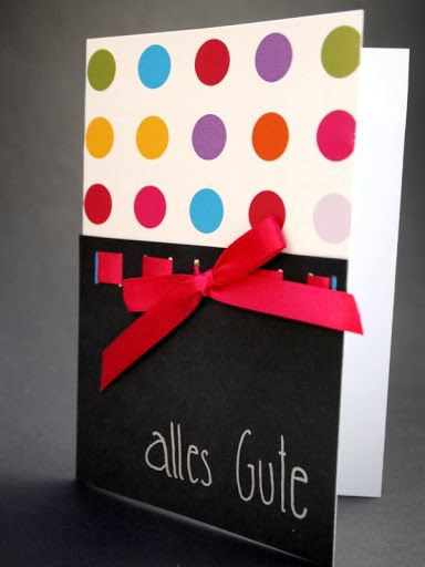 Alles Gute Happy Birthday All The Best Handmade Birthday Card