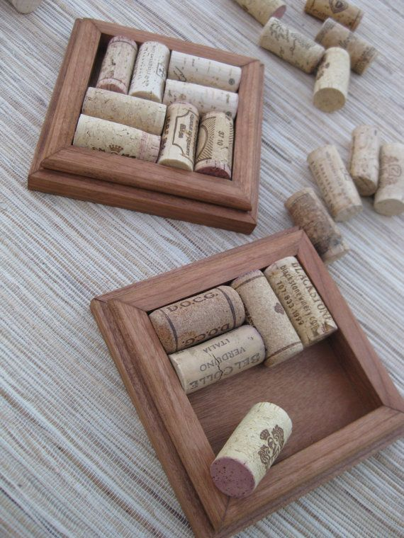 Rustic Brown Wine Cork Coasters  DIY CRAFT set of by TheWoodenBee save your wine corks