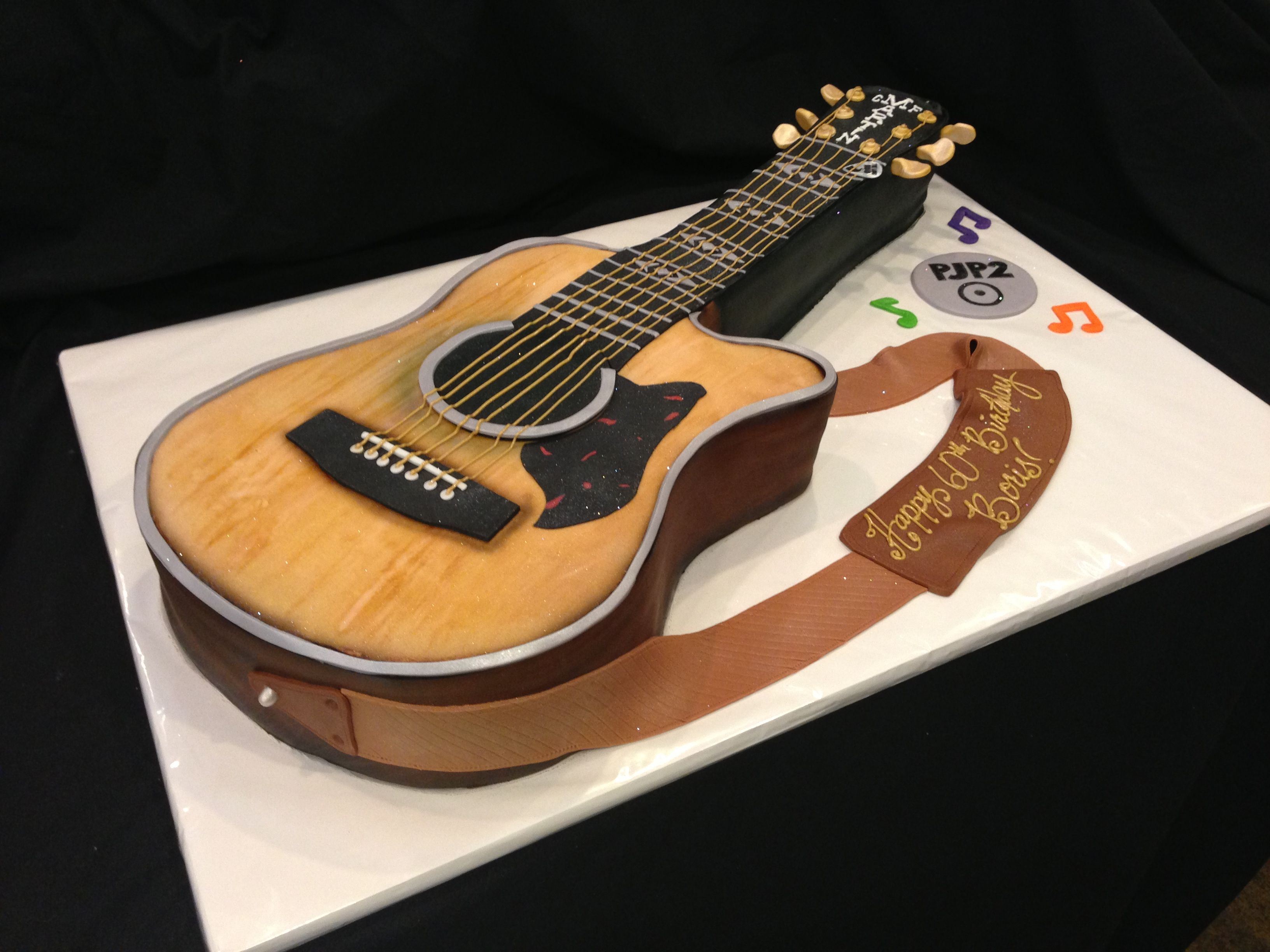 Stand Up Guitar Cake Tutorial
