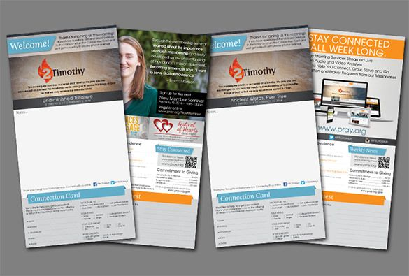 15 Church Bulletin Templates PSD InDesign Illustrator Files Download