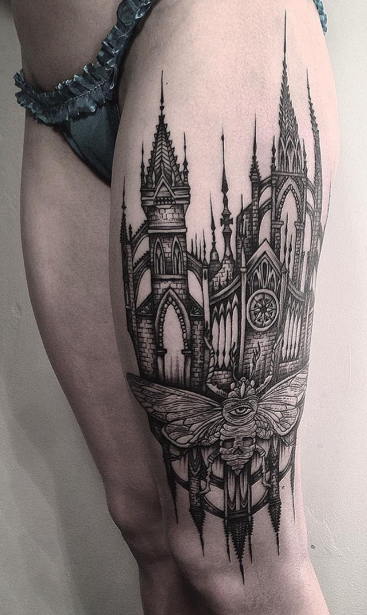 Harry Potter Castle Owl Hogwarts Coat Of Arms Best Harry Potter Half Sleeve With Hogwarts School T Castle Tattoo Upper Half Sleeve Tattoos Half Sleeve Tattoo