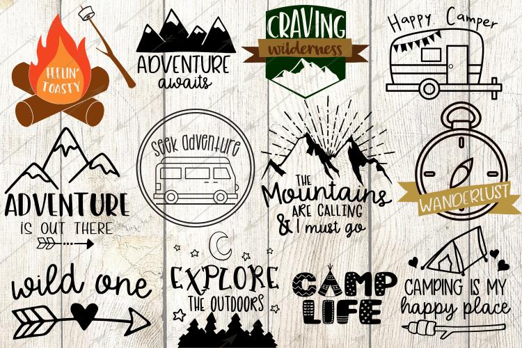 Happy Camper Svg Bundle 12 Camping Svg Designs Happy Campers Cricut Camper Decor