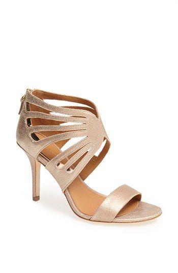 gold blush metallic heels