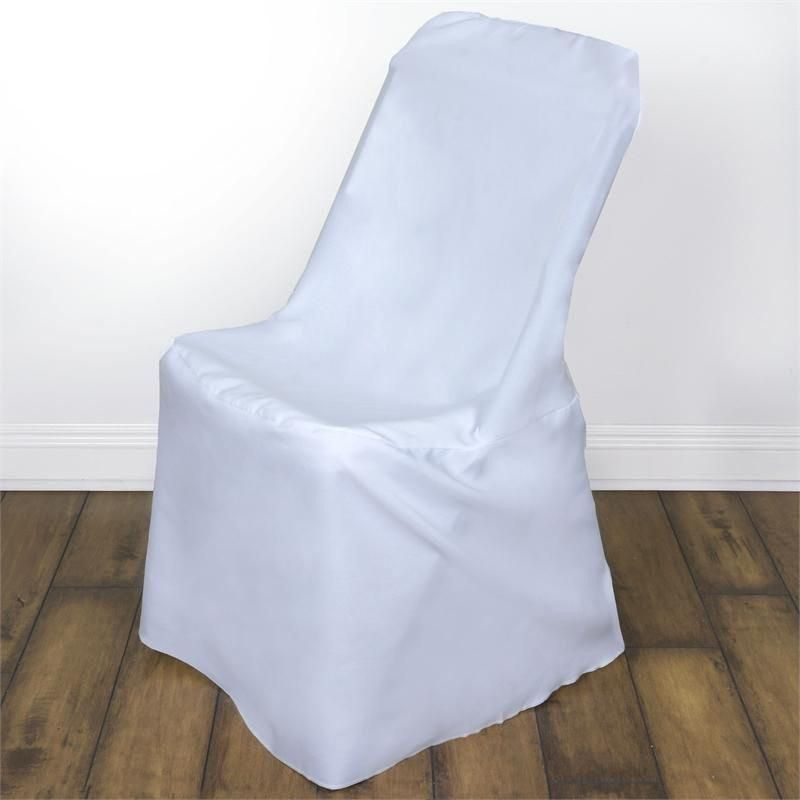 White Polyester Lifetime Folding Chair Covers (con imágenes