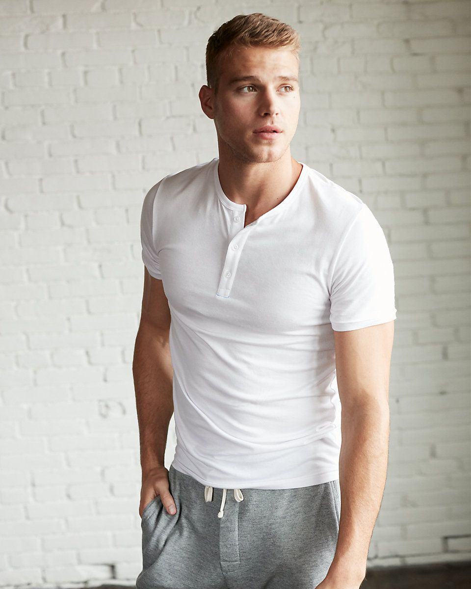 Henley Shirts for Men Short Sleeve Cotton Henley Button Tee