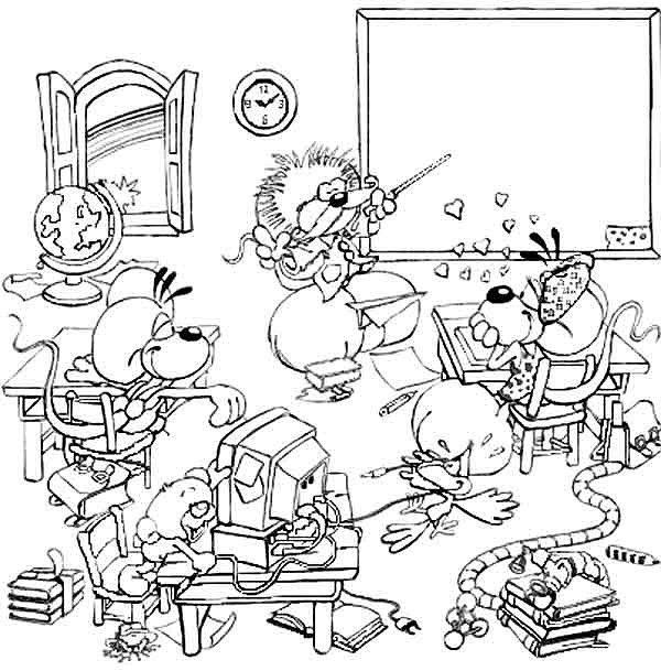 Bien-aimé Coloriage Diddl à l'école | rentrée scolaire | Pinterest  GT69