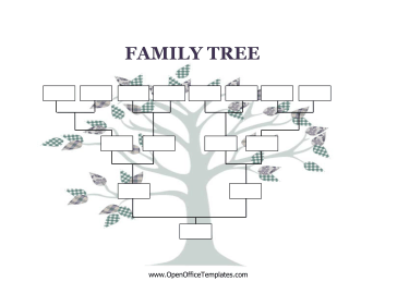 Decorated with a cute, craft tree, this printable family