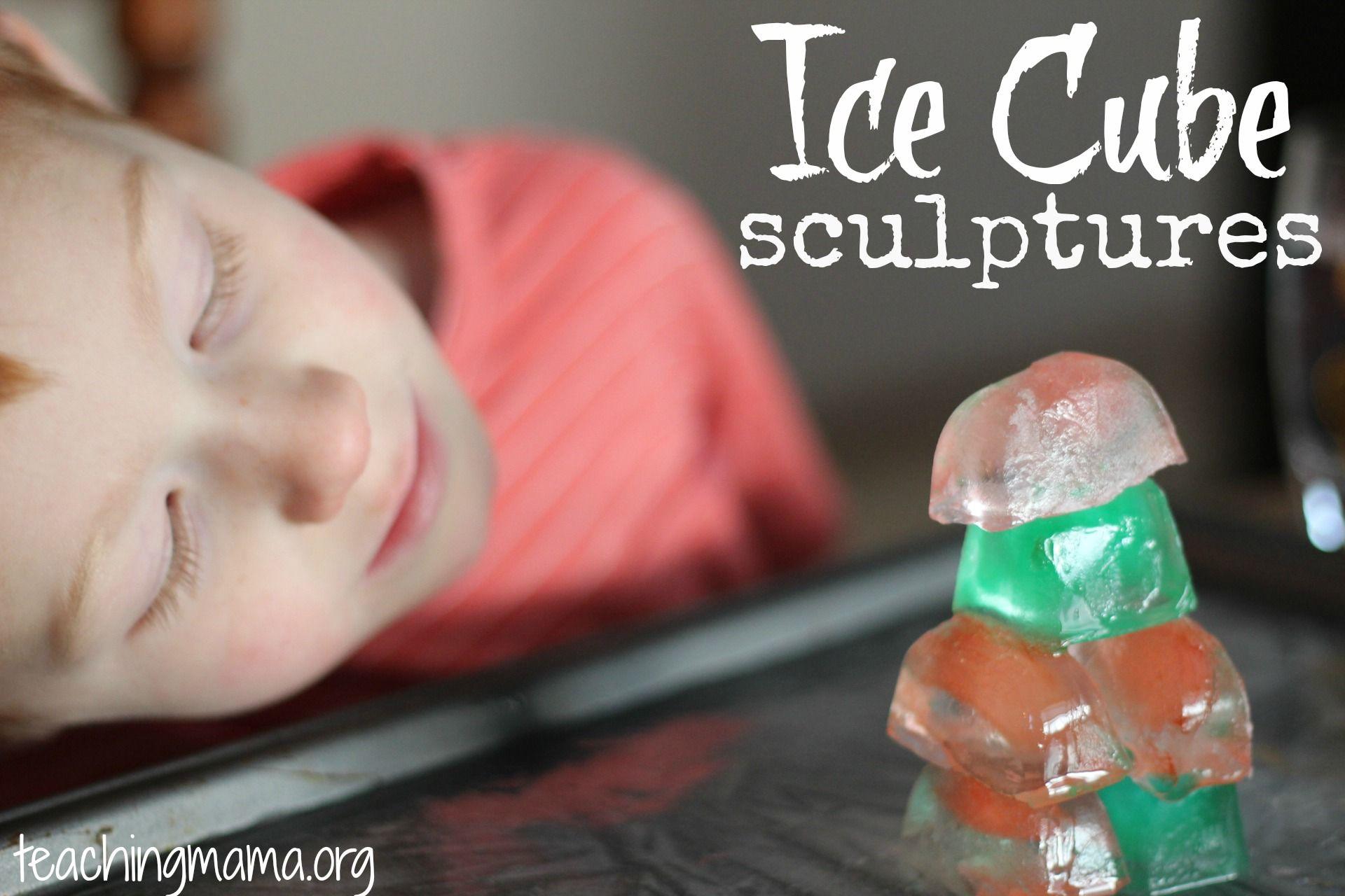 Ice Cube Sculptures