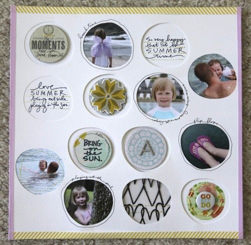 Love Summer, and love this layout by Ali Edwards! She used her Summer Rocks (July's Studio AE stamp set from TechniqueTuesday.com) to do all the stamping on it. It's always so inspiring to see how she used her stamps.