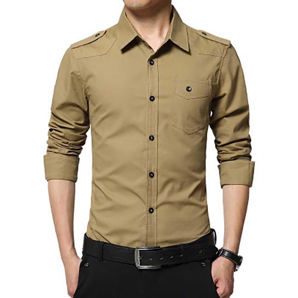 Mens khaki shirt