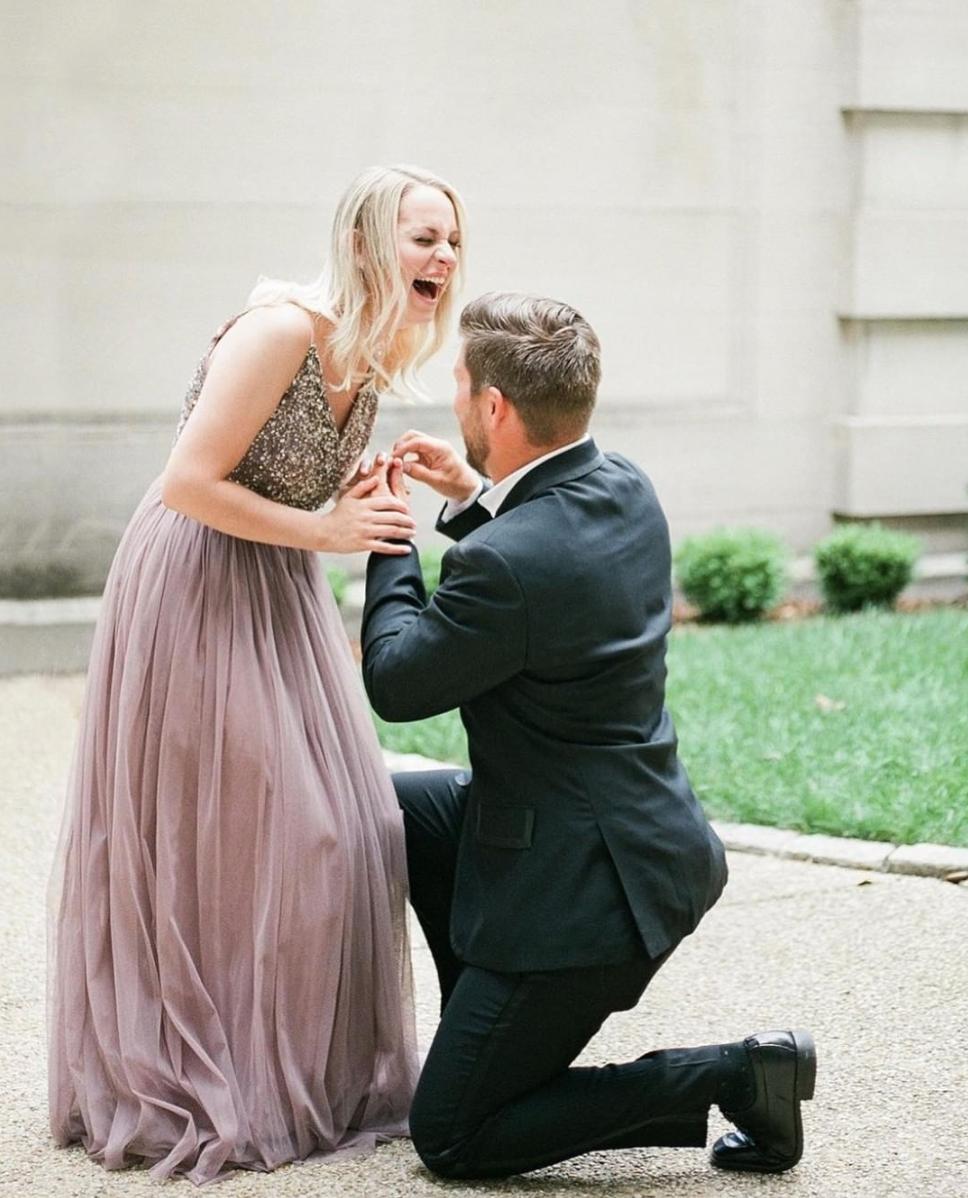 15bca422d5a6 engagement dress | Avery Dress from BHLDN | @alicialaceyphoto  @wholeheartstudios