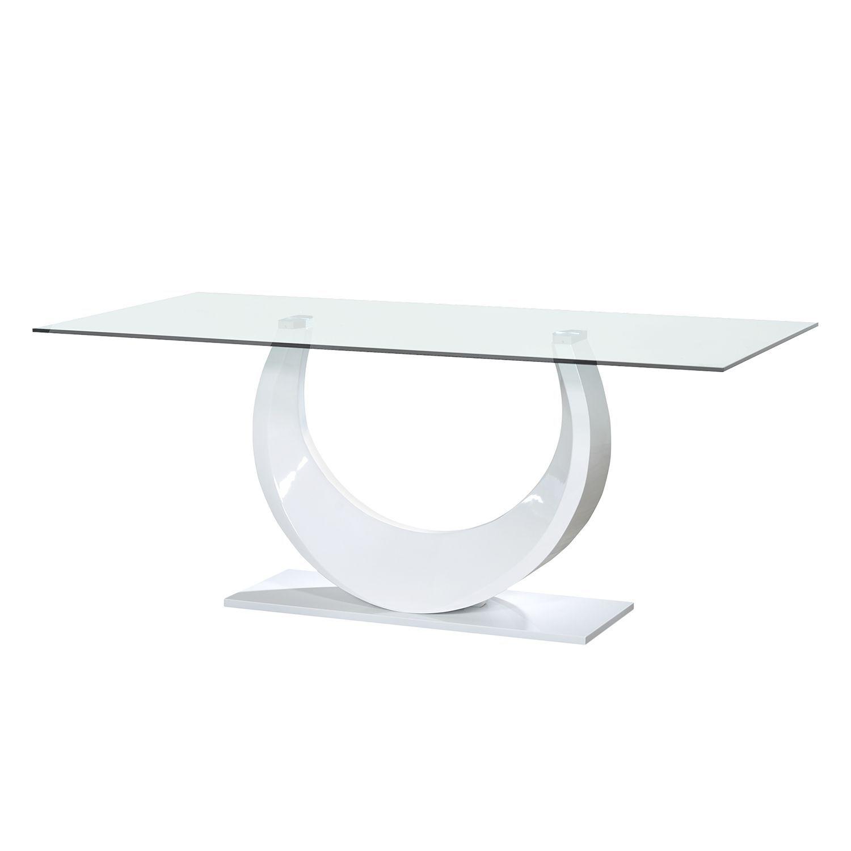 Esstisch Smooth - Glas - Hochglanz Weiß, Sciae Jetzt bestellen unter ...