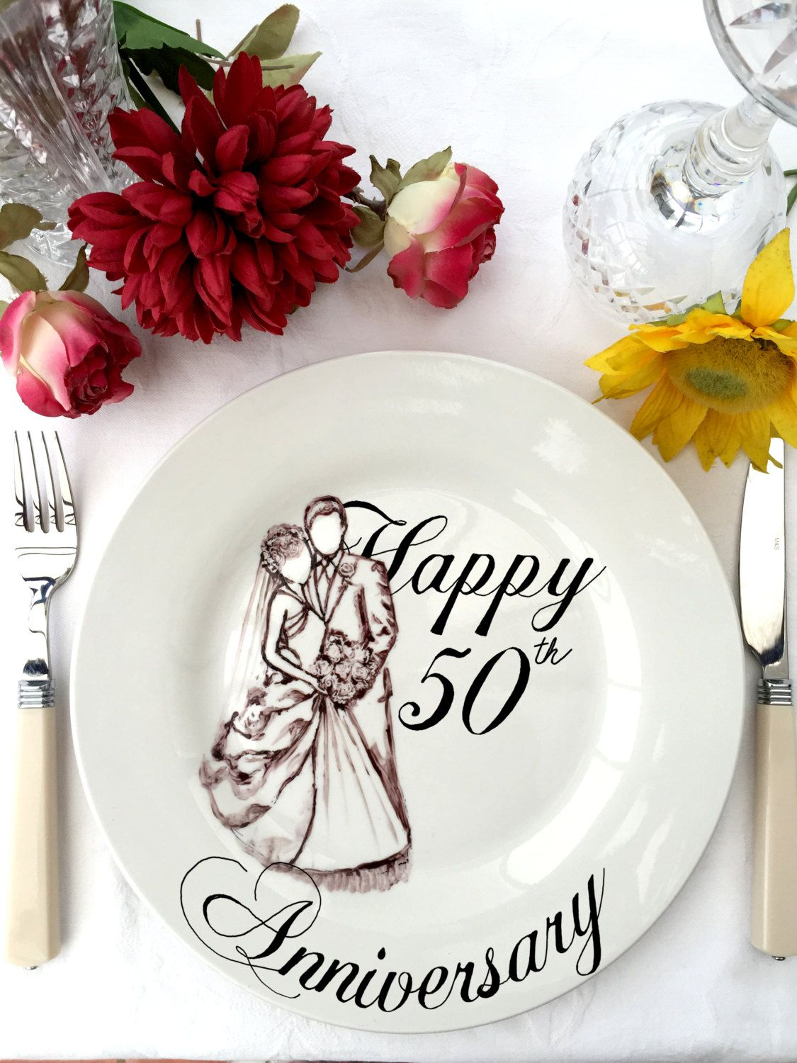 personalized wedding anniversary gift couples plate ceramic plate