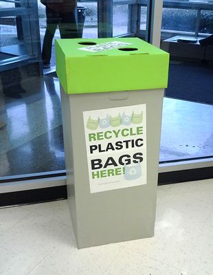 Some Places Have Bins To Recycle Your Plastic Bags