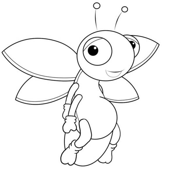 Fireflies Coloring Page Printable With Images Cartoon Pics