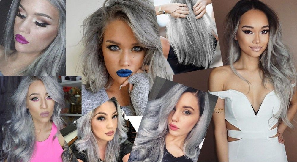 Beautiful hair extension grey silver hair no clip hair extension beautiful hair extension grey silver hair no clip hair extension brazilian natural wave invisible synthetic pmusecretfo Choice Image