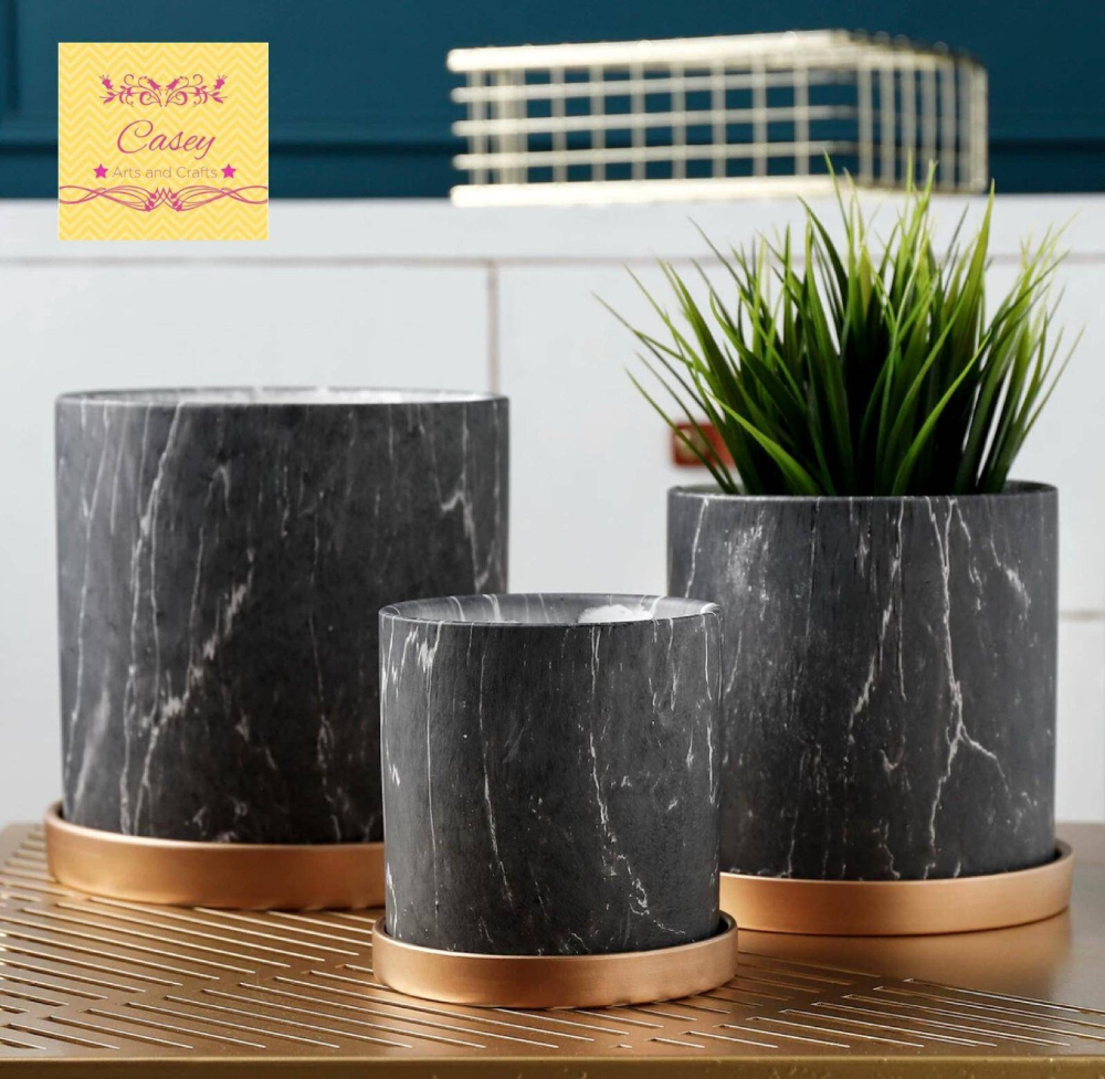 Modern Black Marble Planter With Drainage With Base Smoky Marble Ceramic Planter Indoor Planter Pot Planter Free Usa Shipping In 2020 Planter Pots Indoor Ceramic Planters Indoor Planters