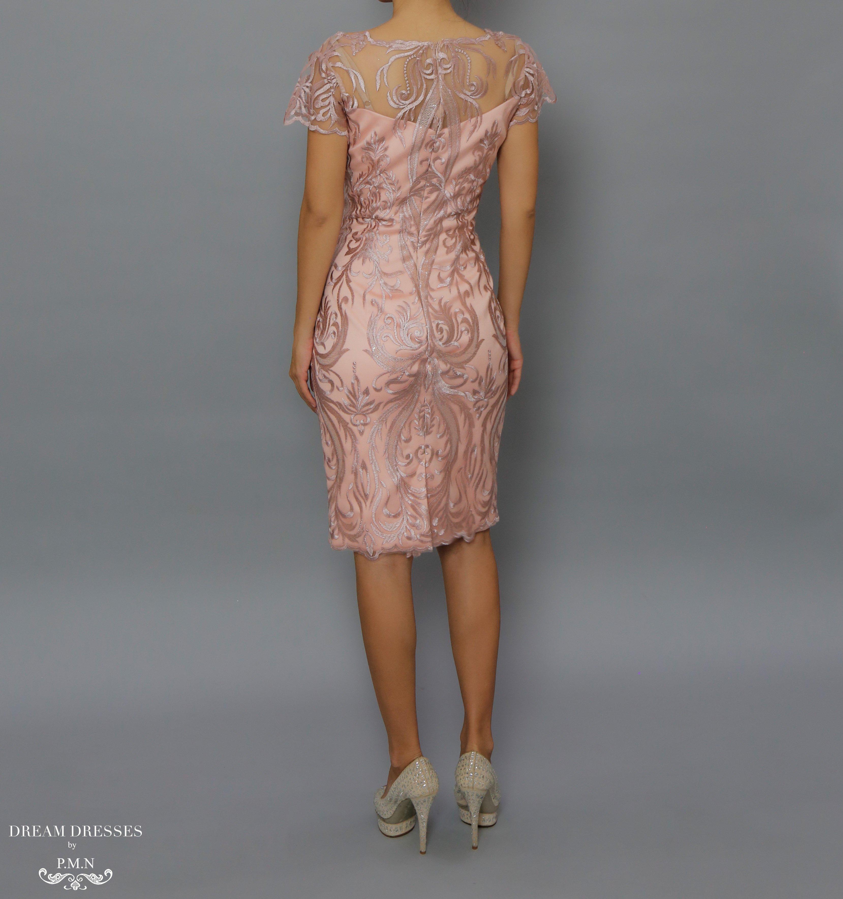 Mother Of The Bride Knee Length Dress Camilla Blush Pink Knee Length Dress Midi Lace Dress Lace Wedding Guest Dress Mother Of The Bride Dresses Dresses
