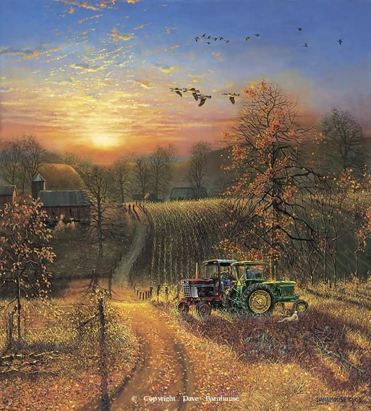 "Rural America | ... 18 1/4"" image size -Rural America Paintings by Dave Barnhouse"